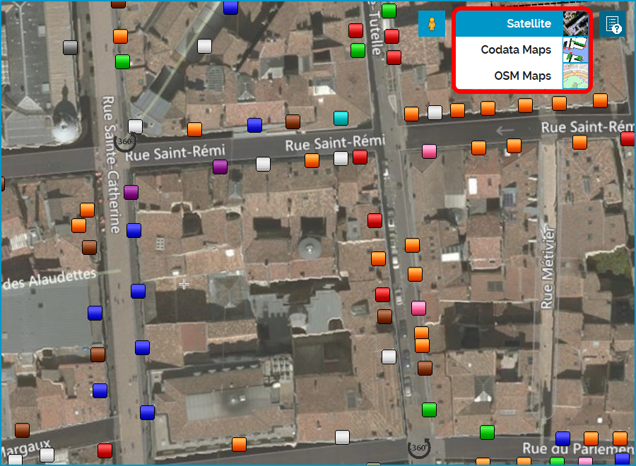 Codata Explorer Display Sites And Locations On Several Map - Map through satellite